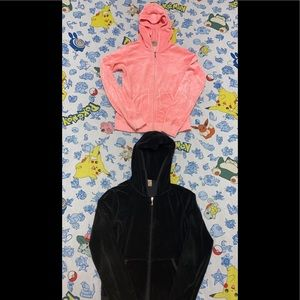 2 Juicy Couture Velour Tracksuit Hoodies